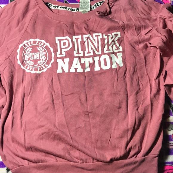 Pink Victoria's Secret sweatshirt